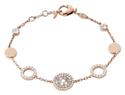 Fossil Ladies' Vintage Glitz Rose-Gold Bracelet
