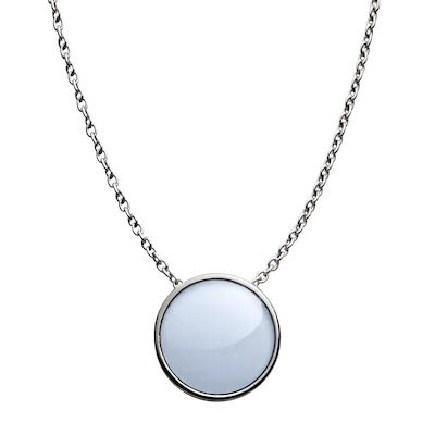 Skagen Ladies' Sea Glass Silver-Tone Pendant Necklace