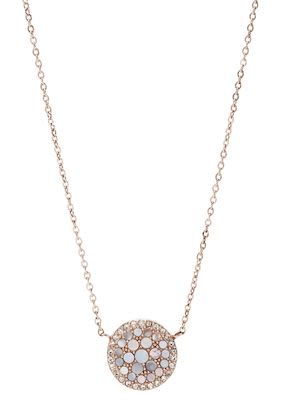 Fossil Ladies' Vintage Glitz Rose-Gold Necklace