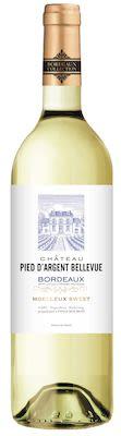 Château Pied d'Argent Bellevue Bordeaux blanc Moelleux 75 cl. - Alc. 11% Vol.