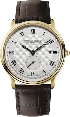 FC Gent's Slimline Gold Plated Leather Watch