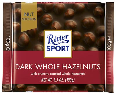 Ritter Sport Dark Whole Hazelnuts 100 g
