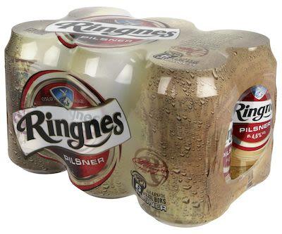 Ringnes Pilsener 24x33 cl. cans. - Alc. 4,6% Vol.