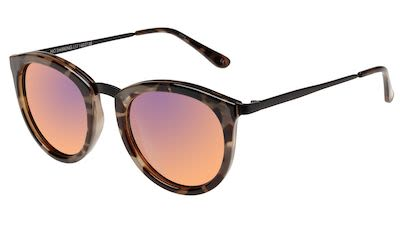 Le Specs Unisex No Smirking Volcanic Tort Sunglasses Pink
