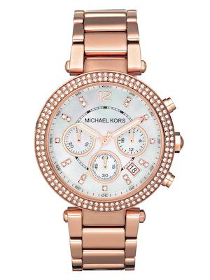 Michael Kors Ladies' Parker Rose Gold-Tone Watch