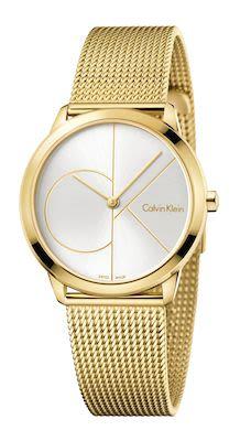 Calvin Klein Unisex Minimal Watch Gold