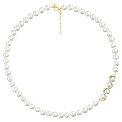 Misaki Ladies' Necklace Initials Gold