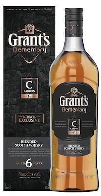 Grant's Elementary 6 YO Carbon 100 cl. - Alc. 40% Vol. In gift box.