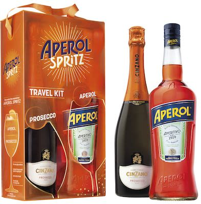 Aperol Spritz 100 cl. & Cinzano Prosecco 75 cl. - Alc. 11% Vol. In gift box.