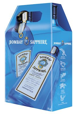 Bombay Sapphire Twin Pack 2x100 cl - Alc. 47% Vol. In gift box.