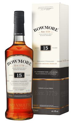 Bowmore 15 YO, 100 cl. - Alc. 43% Vol. In gift box. Islay.