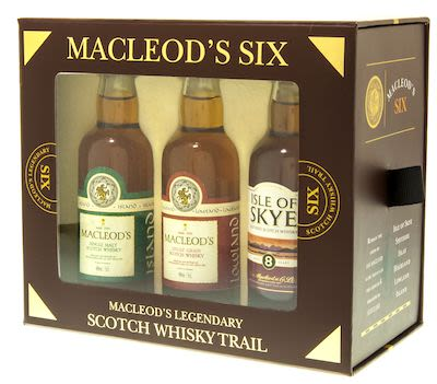 Macleod's Six legendary Whisky Trail gift box 6x5 cl - Alc. 40% Vol. In gift box. Speyside.