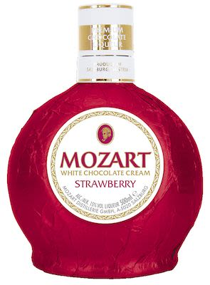 Mozart White Chocolate Cream Strawberry 50 cl - Alc. 15% Vol.