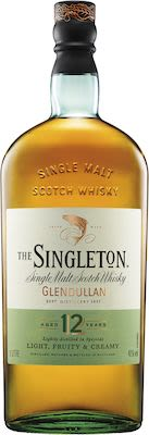 The Singleton of Glendullan 12 Years Old 100 cl. - Alc. 40% Vol. In gift box. Speyside.