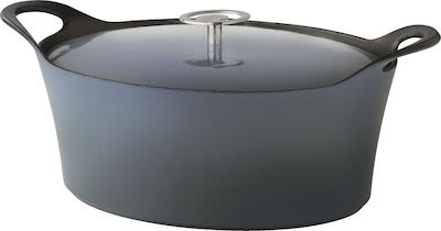 Cuisinox Cast Iron Casserole Denim Blues Oval 29 cm