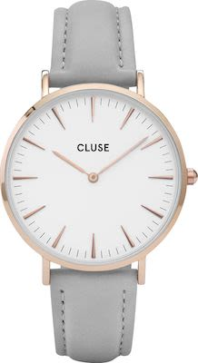 Cluse La Bohème Ladies' Watch Rose Gold White Grey
