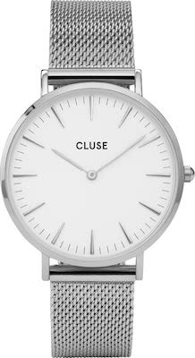 Cluse La Bohème Ladies' Watch Mesh Silver White
