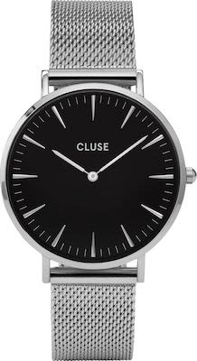 Cluse La Bohème Ladies' Watch Mesh Silver Black