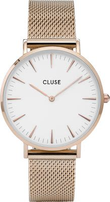 Cluse La Bohème Ladies' Watch Mesh Rose Gold White