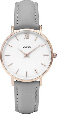 Cluse Minuit Ladies' Watch Rose Gold White Grey