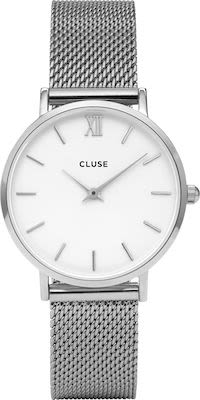 Cluse Ladies' Minuit Watch Mesh Silver White