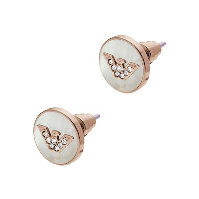 Emporio Armani Ladies' Ohrstecker Signature Earrings Rosegold