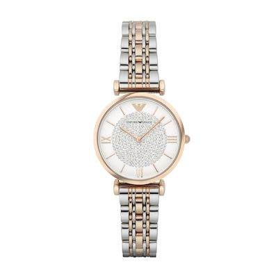 Emporio Armani Ladies' Gianni T-Bar Watch Two-Tone