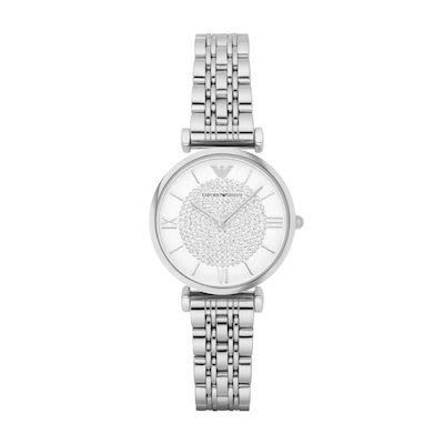 Emporio Armani Ladies' Gianni T-Bar Watch Silver