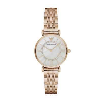 Emporio Armani Ladies' Gianni T-Bar Watch PVD Rose