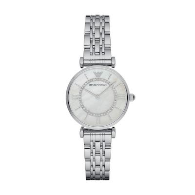 Emporio Armani Ladies' Gianni T-Bar Watch Steel