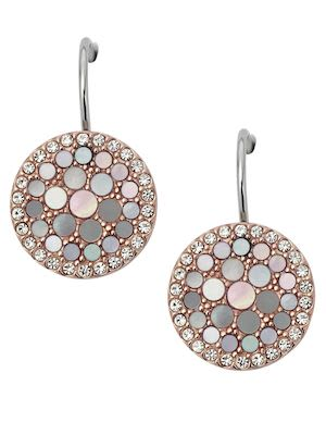 Fossil Ladies' Vintage Glitz Crystal Drop Earrings