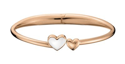 Tommy Hilfiger Ladies' Fine Core Heart Bangle Rosegold