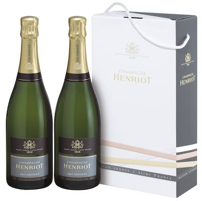 Henriot Brut Souverain Twin pack 2x75 cl. - Alc. 12% Vol. In gift box.