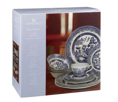 Blue Willow Mint 20 pcs set