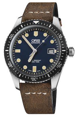 Oris Divers Gents Herritage 65 Watch, Blue