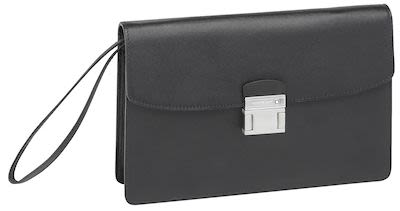 Montblanc Sartorial Borsello Leather Clutch Bag Black