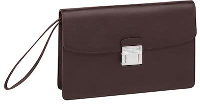 Montblanc Sartorial Borsello Leather Clutch Bag Brown