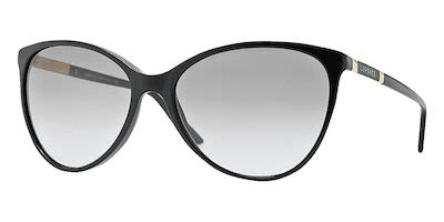Versace Ladies' Cat Eye Sunglasses Black
