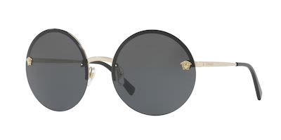 Versace Ladies' Round Sunglasses Gold