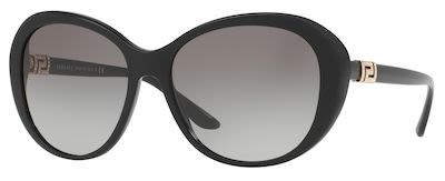 Versace Ladies' Pop Chic Grecca Strass Sunglasses Black