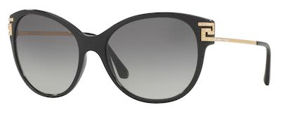Versace Ladies' Rock Icons Greca Strass Sunglasses Black