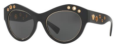 Versace Ladies' Rock Icons Metallic Ring Sunglasses Black