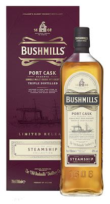 Bushmills Steamship Port Cask Reserve 70 cl. - Alc. 40% Vol. In gift box. Irish.