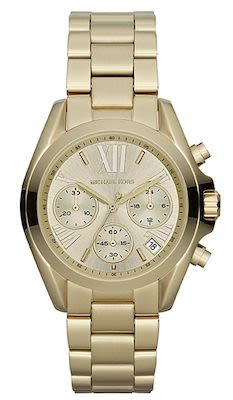 Michael Kors Ladies' Bradshaw Champagne Dial Gold-Tone Watch