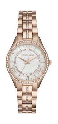 Michael Kors Ladies' Lauryn Rose Gold-Plated Watch