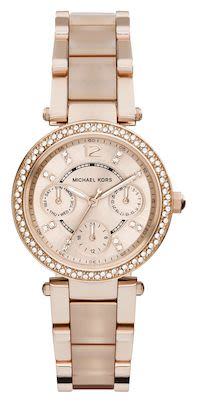 Michael Kors Ladies' Mini Parker Rose Gold-Tone Watch