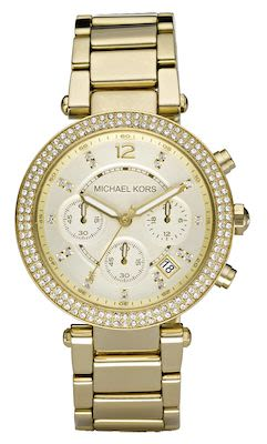 Michael Kors Ladies' Parker Gold-Tone Watch