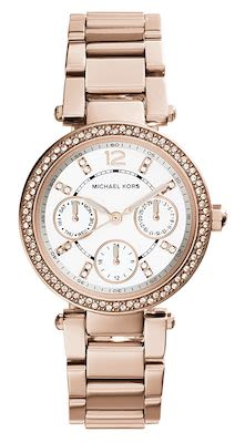 Michael Kors Ladies' Parker Multi-Function Rose Gold-Tone Watch