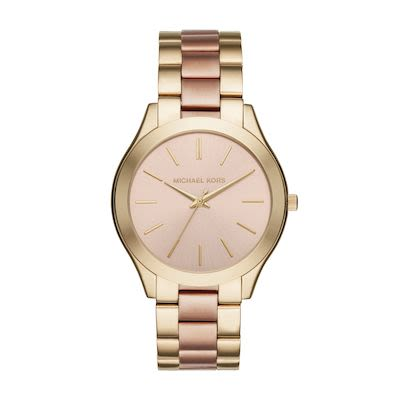 Michael Kors Ladies' Slim Runway Two-Tone Watch