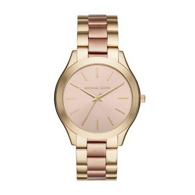 Michael Kors Ladies' Slim Runway Two Tone Watch